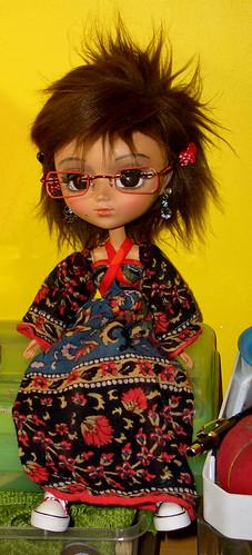 Maya's eye glasses