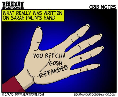 2 9 10 Bearman Cartoon Sarah Palins Hand