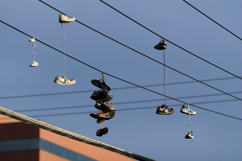 Shoes on a wire 1