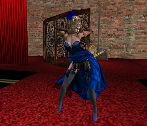 Dancing the burlesque ...