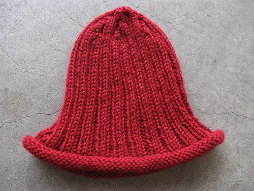 simple ribbed hat