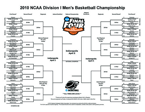 2010 NCAA Tourney Bracket
