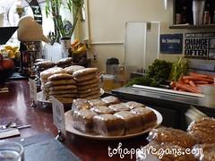 vegan snacks, candle cafe