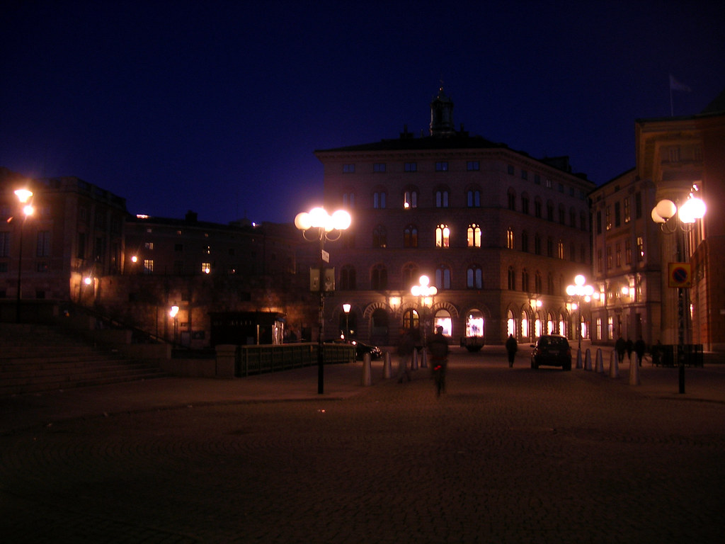 Mynttorget by night, Stockholm - 2