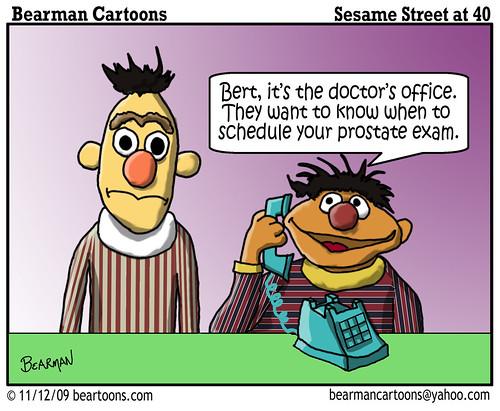 11 11 09 Bearman Cartoon Sesame Street at 40 Ernie Bert