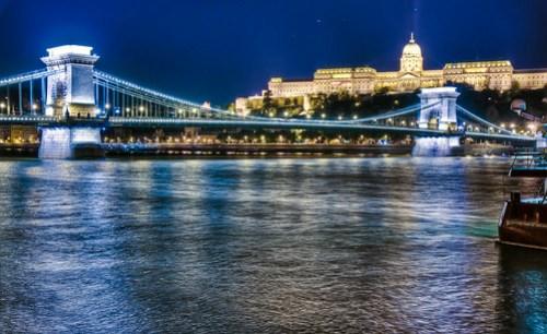 Szechenyi Bridge, Budapest, Hungary