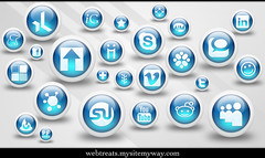 Webtreats 3d Glossy Blue Orbs Social Med by webtreats, on Flickr