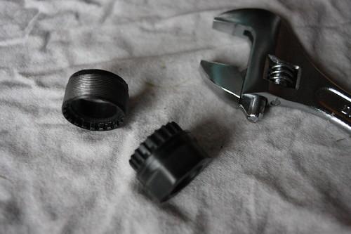 Removed bottom bracket adapter