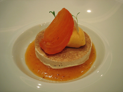 Iced Chestnut Parfait, Sharon Fruit Sorbet
