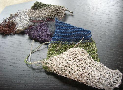 yarn tasting strip