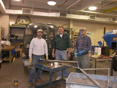 Rick Bovino,Bill Fickes and Charlie Vesterman Working on the Sikorsky HO5S or S-52