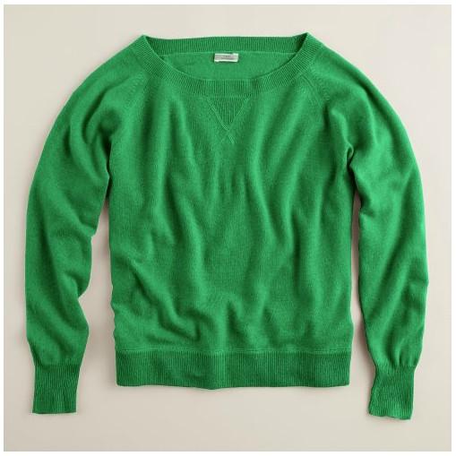jcrew green cashmere
