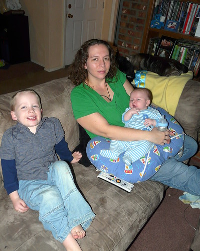 Mom, Landon, and Ollie