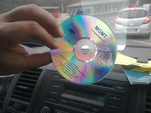 De CD van het album Congratulations.