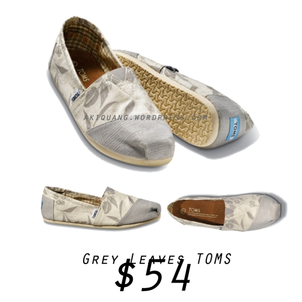 Grey Leaves TOMS