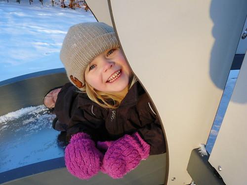 Ronja on the slide