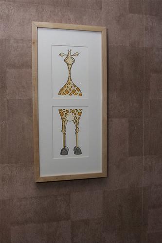 go go giraffe - framed - photo by customer