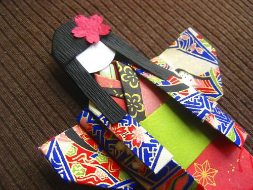 Chiyogami Paper Doll - Masami Detail