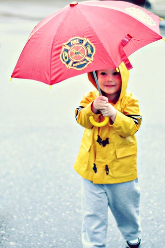 He Loves his Umbrella