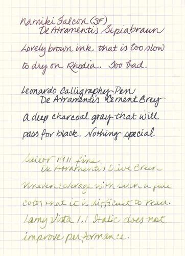 De Atramentis Ink Samples