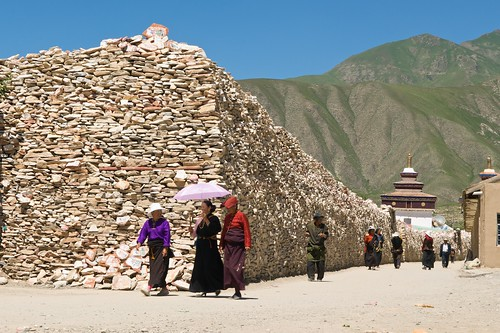 A Holy Tibetan Mani Stone Pile