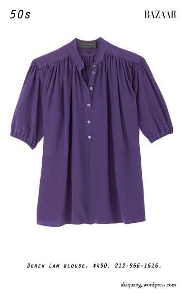 Derek Lam blouse, $490. 212-966-1616.