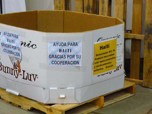 Donations for Haiti at Costco