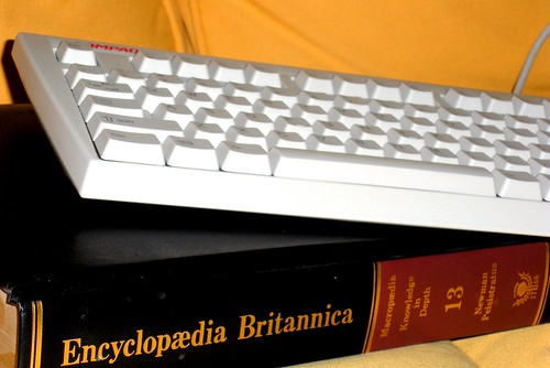 Keyboard and Encyclopedia by Flickr user brad.rourke