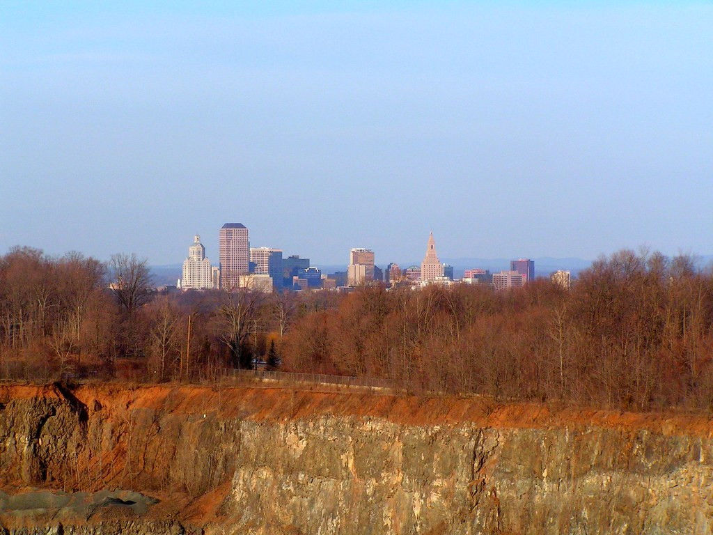 Downtown Hartford, from Cedar Mountain