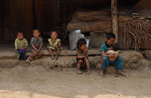 Children from Ban Luong Kwai