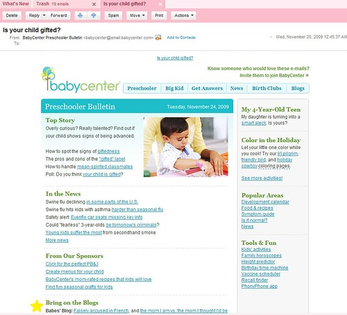 babycenter email