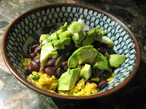 Leftover rice and beans