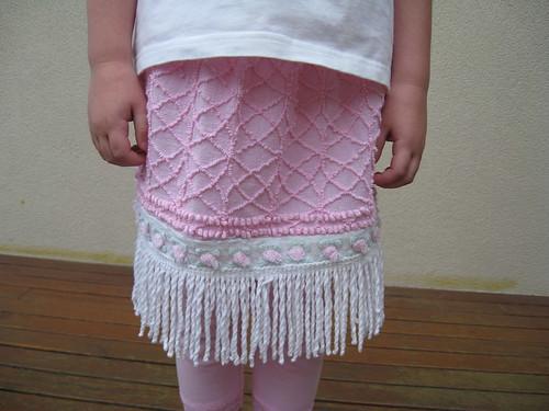 pink bedspread skirt