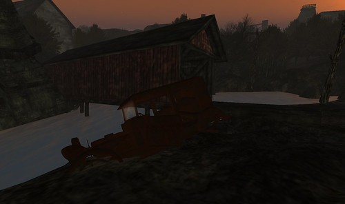 Rusted vehicle and my shelter