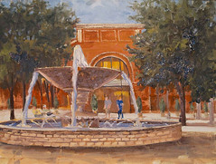 Town Square Fountain - 11x14