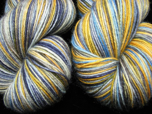 Workin in a Coal Mine - Hand Dyed Bengal BFL 4 ply Sock Yarn