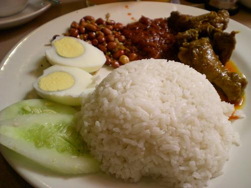Nasi lemak breakfast 1