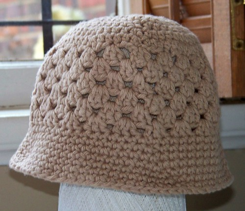 Beige cotton crochet