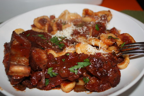 Goat Ragu over Homemade Orecchiette