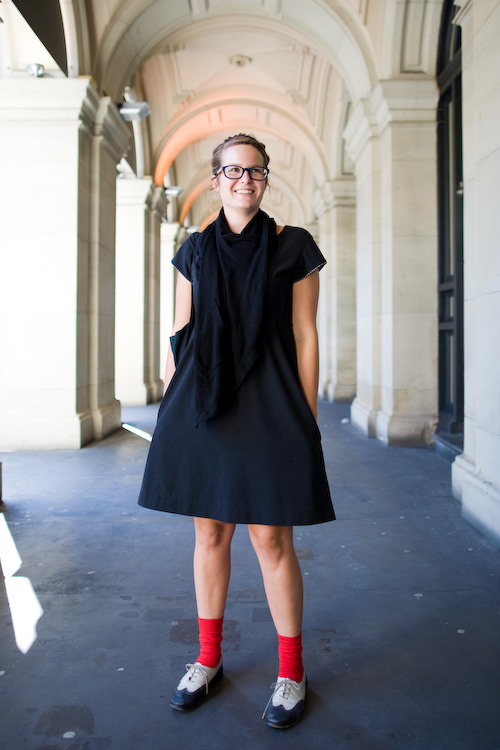 Black with a dash of red - L'oreal Melbourne Fashion Festival