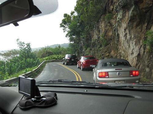Traffic by a Treacherous Cliff