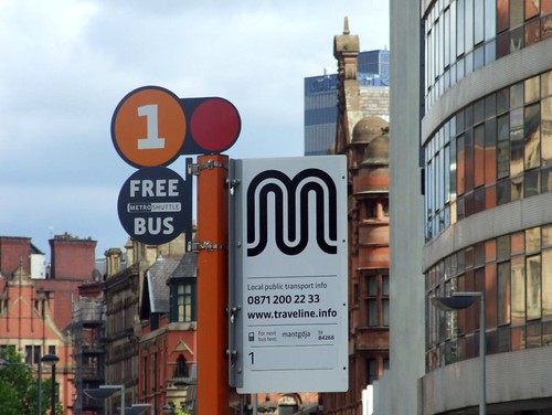 The Number 1 bus stop in Greater Manchester