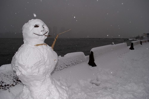Snowman on the Waterfront