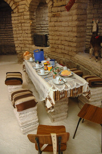Dining area in our salt-hotel