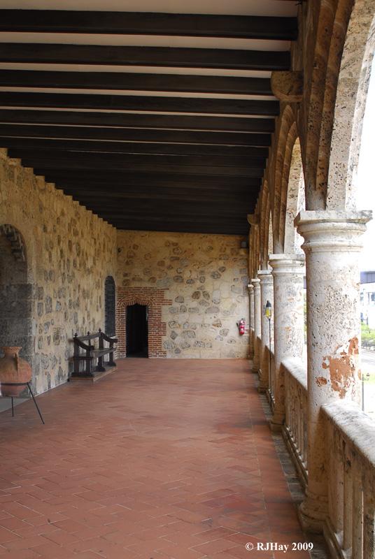 Second Storey balcony - Alcazar de Colon (Palacio de Diego Colon), Santo Domingo, Dominican Republic