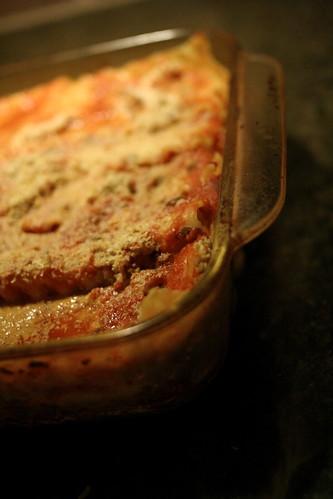 eric made vegan lasagna