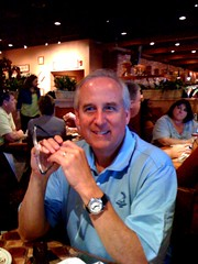 Papa at Carrabbas for his 60th bday dinner!