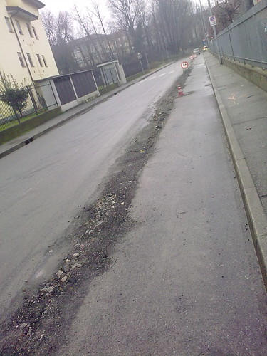 strada tagliata