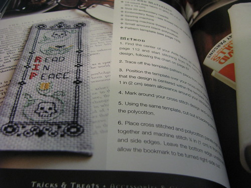 Memento Mori Bookmark Reviewing Twisted Stitches by Phil Davison