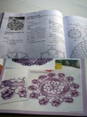 pink doily pattern